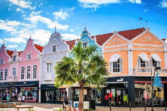 Visit downtown Oranjestad